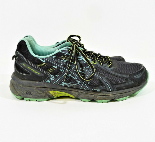 Asics Women's Black/Carbon/Neon Lime Gel-Venture 6 Trail Running Shoes