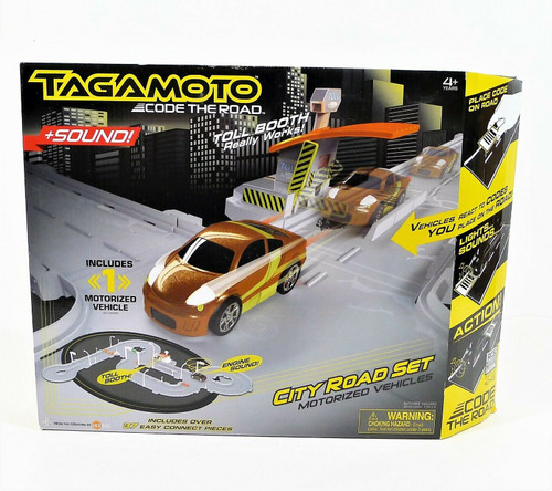 Tagamoto City Road Motorized Vehicle Track Set w/1 Car Code the Road -NEW SEALED