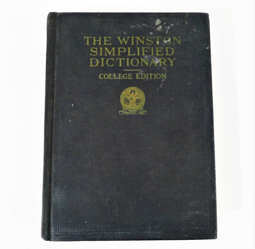 The Winston Simplified Dictionary College Edition Hardcover Book **SEE DESCR