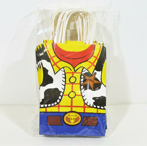 """Set of 16 Toy Story Inspired Gift Bag Set Size 8.25"""" T x 5.75"""" W x 3.25"""" D - NEW"""
