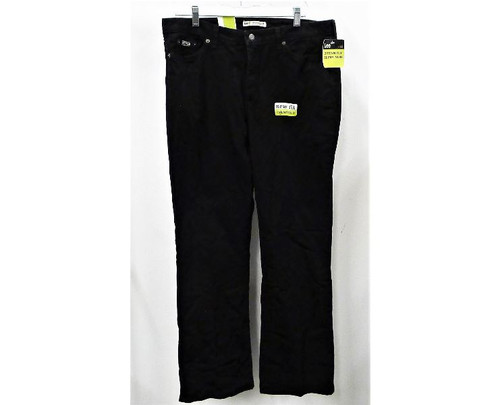 Lee Women's Black Natural Fit Stretch Boot Cut Jeans Size 16 Long -NEW WITH TAGS