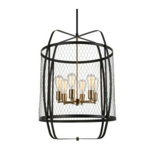 Matteo Lighting Hearth 6-Light Pendant C67806RB  LOCAL PICKUP ONLY, AUSTIN TX