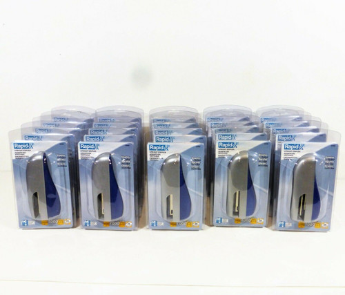 Lot Set of 25 Rapid Upright Staplers  02885 Crystal Blue  NEW