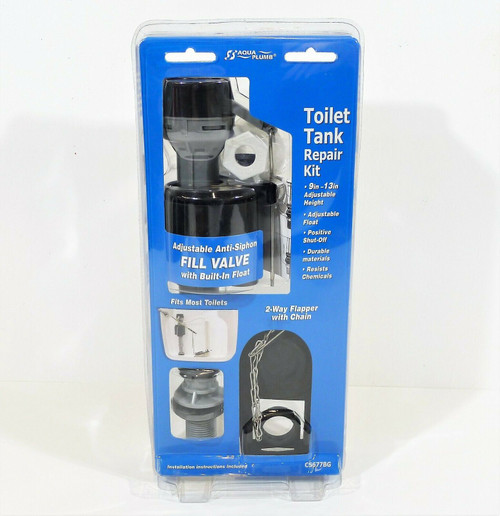 Aqua Plumb Toilet Tank Repair Kit C5677BGt Fits Most Toilets - NEW SEALED