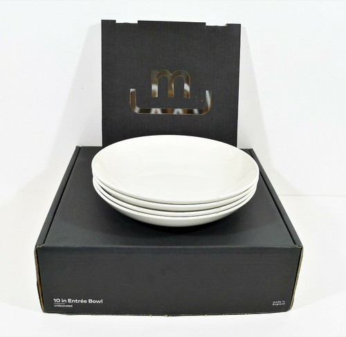 """Made In Cookware 10"""" White Entrée Bowls"""