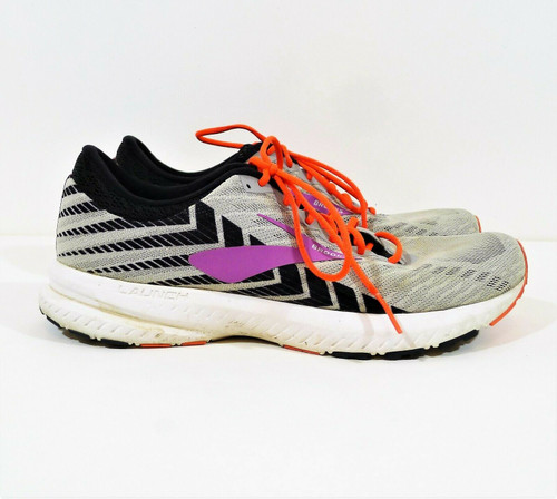 Brooks Women's Grey/Black/Purple Launch 6 Running Shoes Size 11 B - *DIRT/STAINS