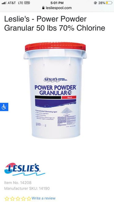 Leslie's power powder granular (Local Pickup Only)