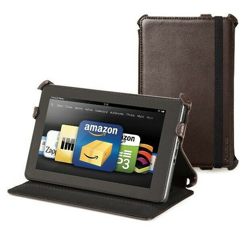 Kindle Fire C.E.O Hybrid Brown Leather Cover Case by Marware *Not For HD or HDX