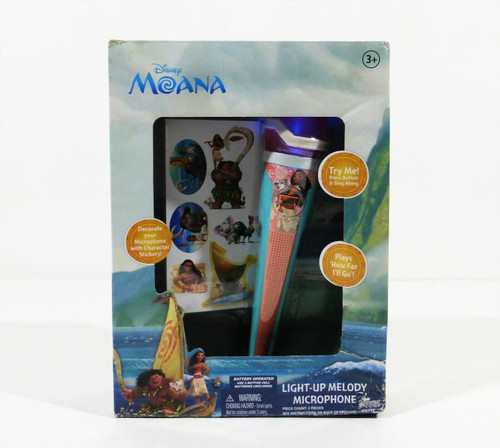 Disney Moana Light-Up Melody Microphone 3+  NEW  *Worn Package
