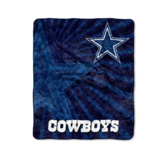 "Northwest NFL Dallas Cowboys Super Soft Sherpa Throw 50"" x 60"" - NEW *LIGHT LENT"
