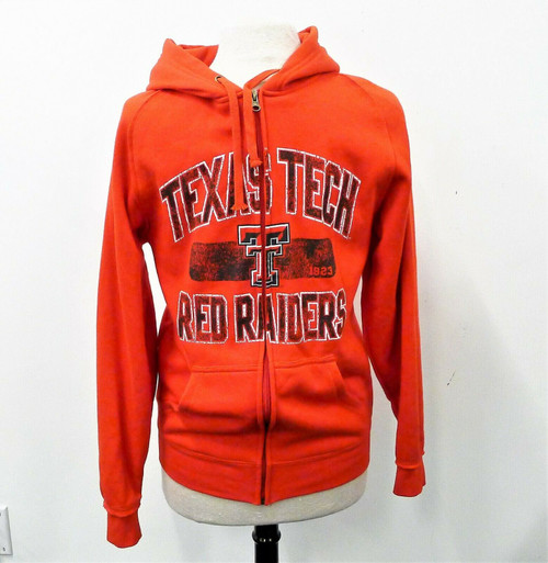 NCAA Red Texas Tech Red Raiders Long Sleeve Hooded Full Zip Jacket Size S