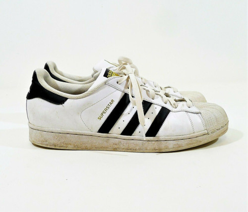 Adidas Men's White Superstar Casual Shoes Size 12