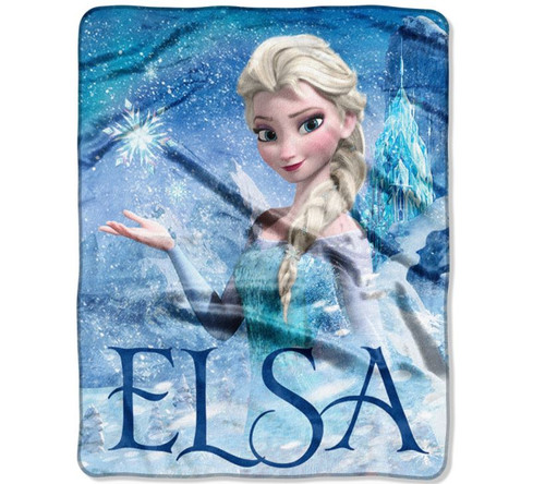 "Disney Frozen Elsa Palace 40"" x 50"" Silk-Touch Throw - NEW **TORN PACKAGE"