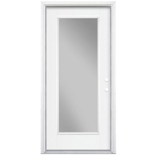 Full Lite Pre-Hung Panel Door No Blinds