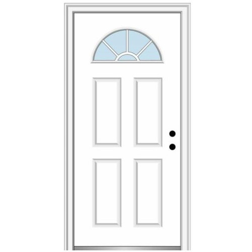 "2/8  (32"" x 80"") Pre-Hung Panel Door with Half-Moon"