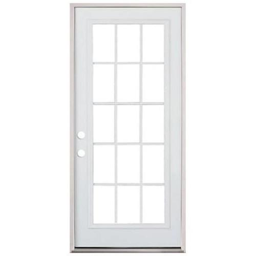 2/8 Pre-Hung 15 Lite Grid Door