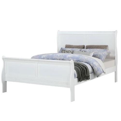 Louis Phillip White Bed Frame