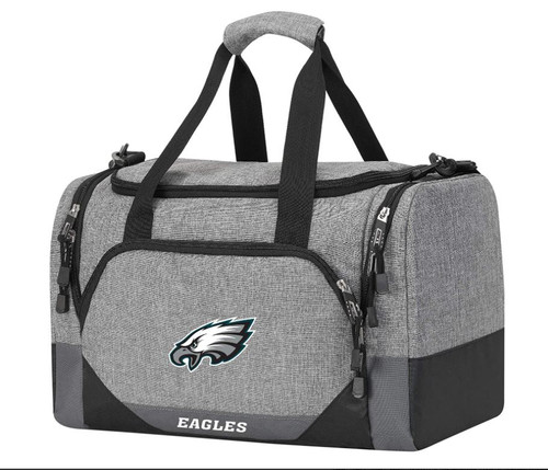 "Northwest Gray/Black Philadelphia Eagles Terrain Duffel 18"" x 11"" x 11"" - NEW"