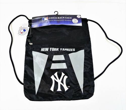 Northwest Gray/Black New York Yankees Team Cinch Back-Sack - NEW