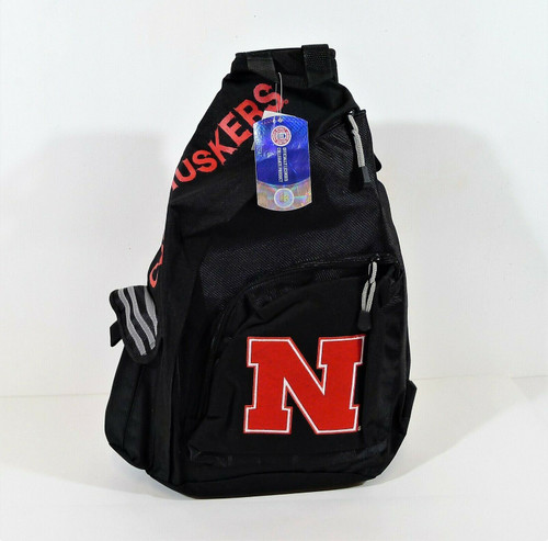 Northwest Black Nebraska Cornhuskers Sling Backpack - NEW WITH TAGS