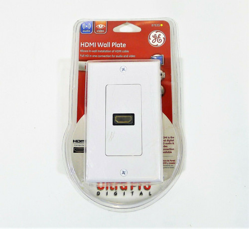 GE White HDMI Wall Plate 87635 - NEW