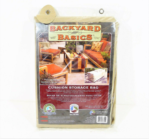 "Backyard Basics Cushion Storage Bag 48"" L x 16"" W x 24"" H Item 07305BB - NEW"