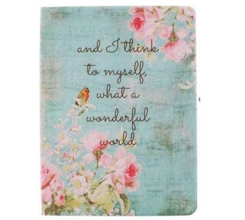 """And I think to myself "" Stand Case Book Style Flip Folio Cover for Apple iPad 6"