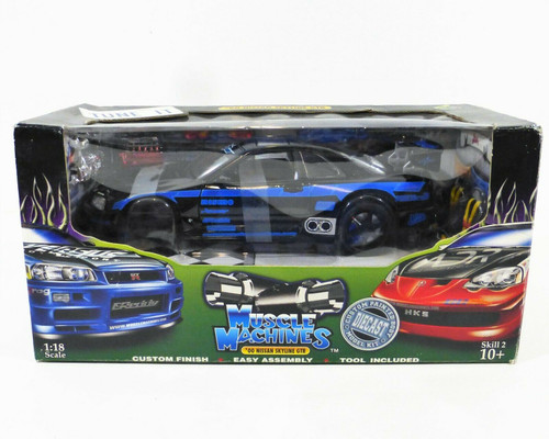 Muscle Machines Tune It '00 Nissan Skyline GTR 1:18 Scale DieCast  NEW *Worn Box