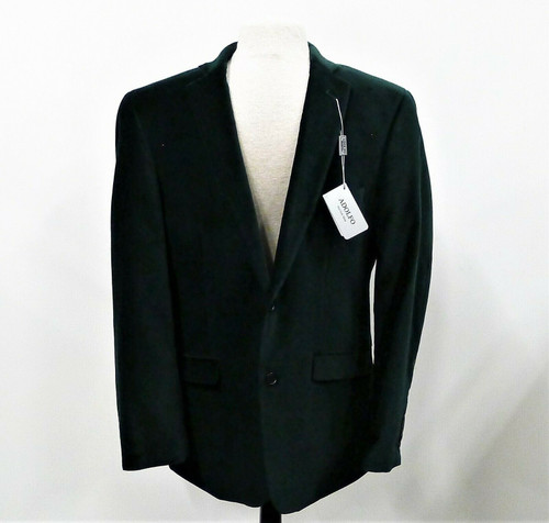 Adolfo Men's Green Velour Sport Coat Model J'RQ-A Size 40 REG - NEW WITH TAGS