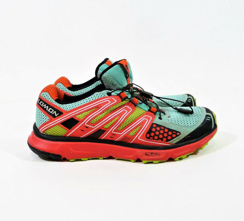 Salomon Women's Green Red XR Mission Trail Running Shoes Size 6.5 - 128431
