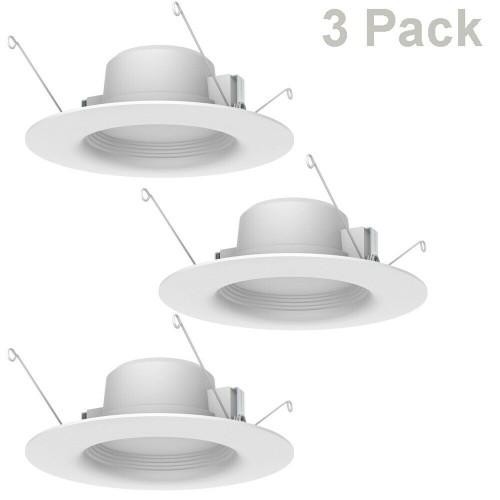 EcoSmart 5 in & 6 in LED Recessed Trim Dimmable Soft white 650 Lumen 3-Pack