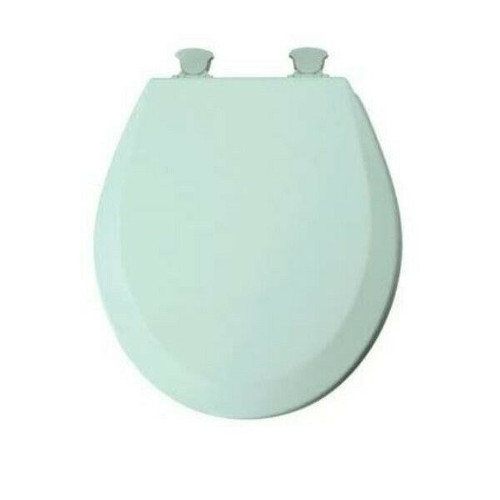 "Mayfair 16.5"" Round Molded Wood Toilet Seat in Seafoam Green 46EC-455  NEW"