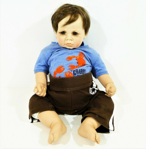 Gail J. Shumaker 1995 Brown Haired Boy Crying Doll 64/500 Signed