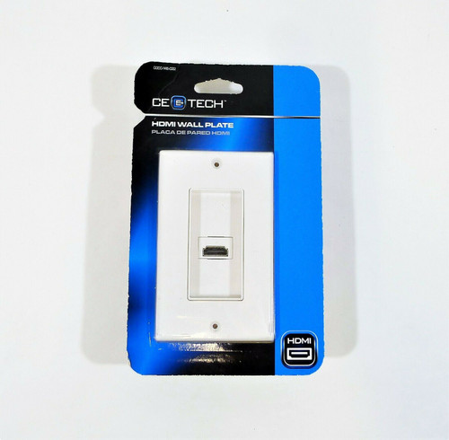 CE TECH White Audio & Video Single HDMI Wall Plate - NEW SEALED