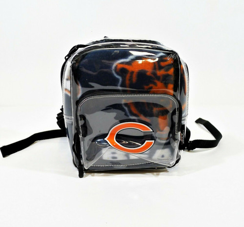 Northwest Co. Chicago Bears Clear Small Backpack w Mickey Mouse Bears Throw
