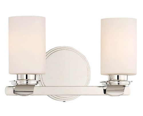 Minka-Lavery Arrondir Collection Two Light Bath in Polished Nickel 3022-613 NEW