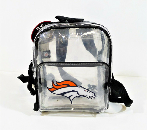 Northwest NFL Denver Broncos Clear Stadium Approved Mini Backpack X-Ray - NEW
