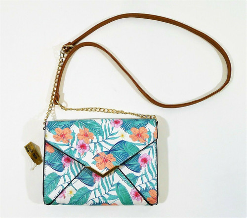 Call it Spring White Floral Polyurethane Crossbody Bag Purse - NEW WITH TAGS