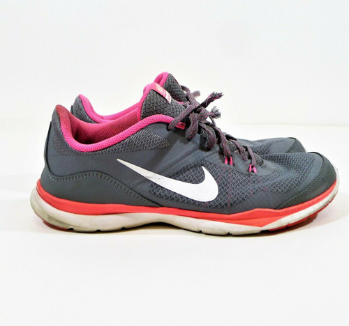 Nike Women's Gray Flex Trainer 5 Running Shoes Size 11 - AGLETS MISSING ON LACES