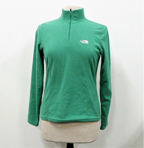 The North Face Women's Green Fleece 1/4 Zip Long Sleeve Pull Over Size S/P