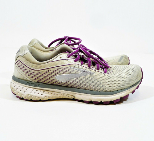 Brooks Women's White/Grey/Hollyhock Ghost 12 Running Shoes Size 7 **DIRT/STAINS