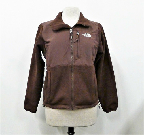 The North Face Women's Brown Polartec Full Zip Fleece Jacket Size M **PILLING