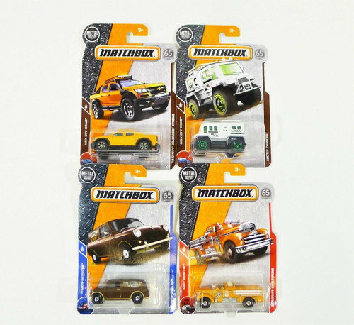 Set of 4 Matchbox 65th Anniversary Cars Austin Mini Van, Arctic Thunder and More