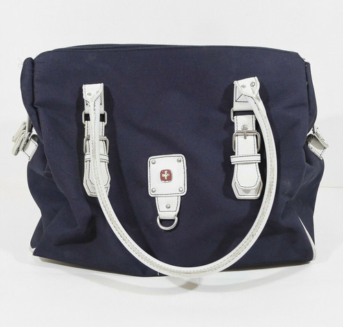 Wenger Swiss Army Blue with White Handles Travel Bag Carry All **SEE DESCRIPTION