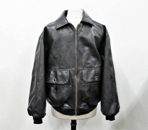 V. Alta Moda Men's Black Original Style Leather Jacket Coat Size M - **SEE DESCR