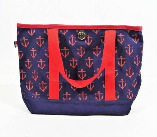 Tommy Hilfiger Blue with Red Anchors Tote Bag