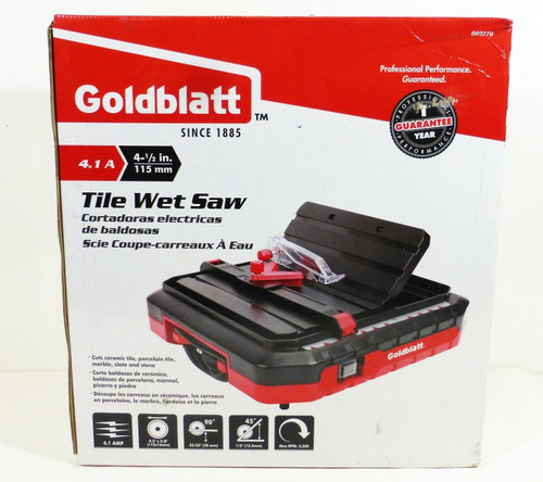 "Goldblatt 4-1/2"" Tile Wet Saw G02770 120V 4.1A 5300RPM   NEW"