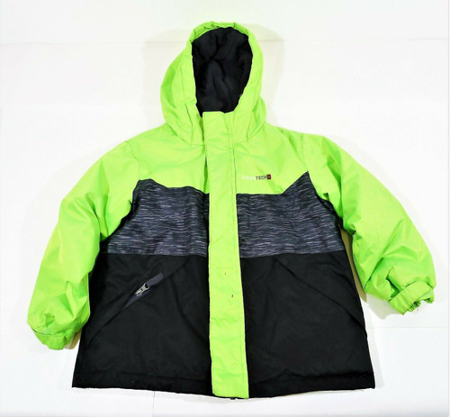 Swiss Tech Boy's Green/Black Jacket Coat Size XS (4-5) **MISSING LINER