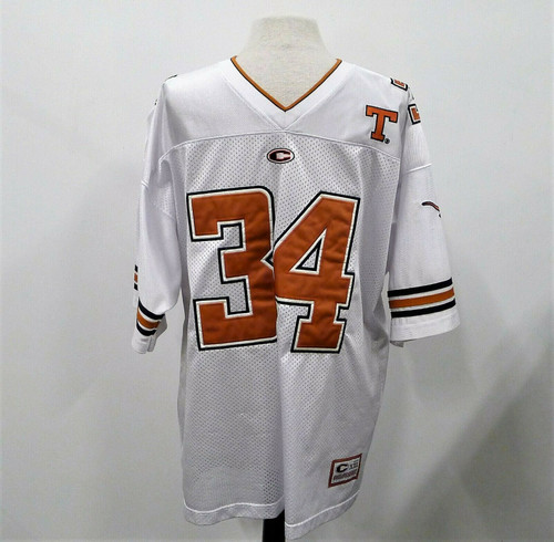 Colosseum Men's White Texas Longhorns #34 Jersey Size Large