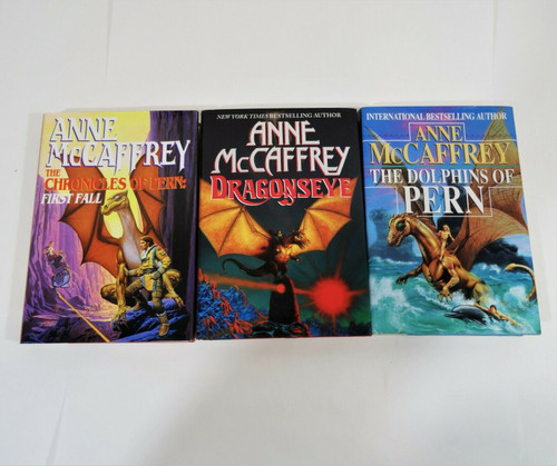 Anne MaCaffrey Hardcover Lot of 3 Chronicles of Pern Dragonseye Dolphins of Pern